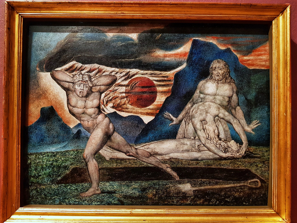 Уильям Блейк. Picture: Satan Smiting Job with Sore Boils (c. 1826) by William Blake