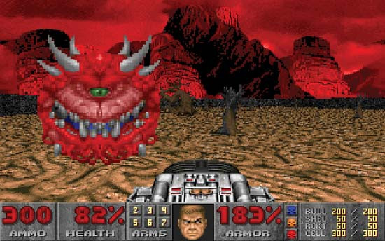 Скриншот из игры DOOM II