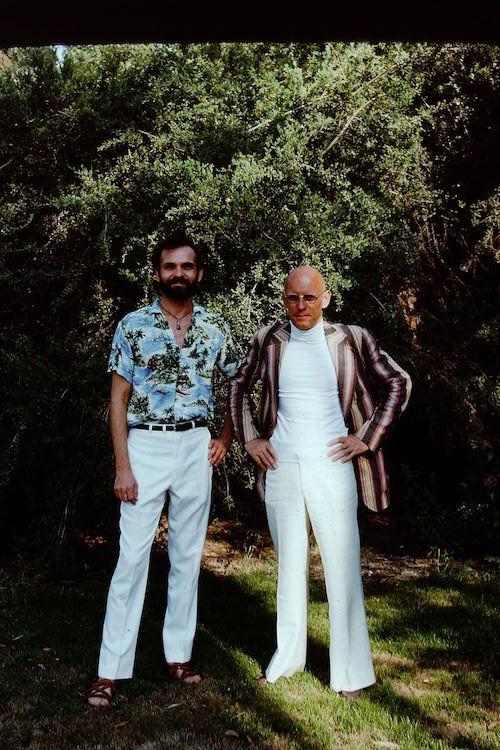 Мишель Фуко и Симеон Уэйд в Клермонте (примерно май 1975)