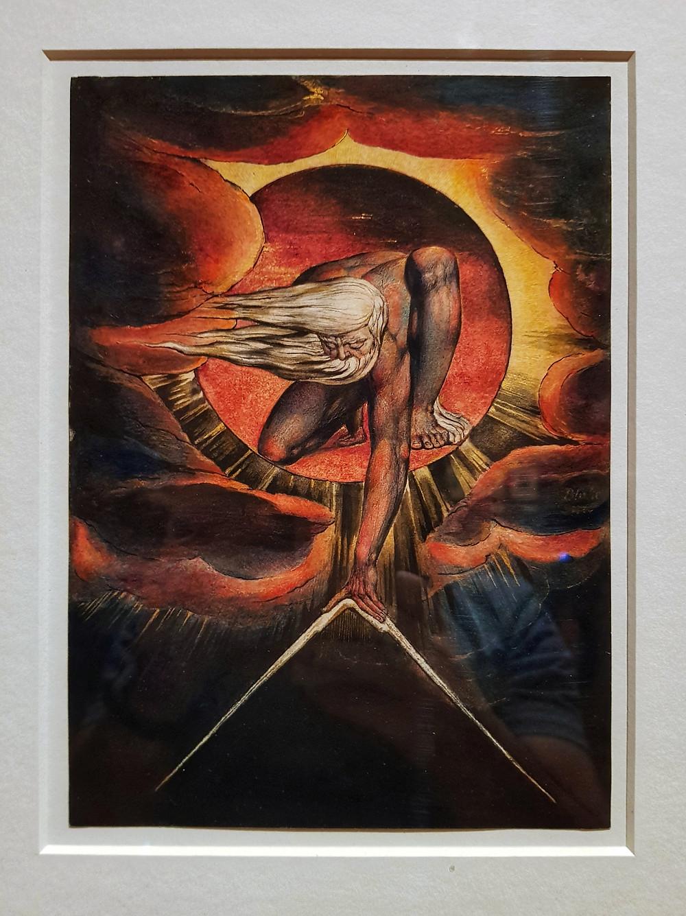 Уильям Блейк, «Ветхий Днями». Фото © Евгений Пустошкин. Tate Britain, Лондон. Октябрь 2019