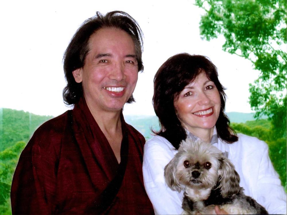 Тралег Ринпоче с супругой Фелисити (Тралег Кхандро)