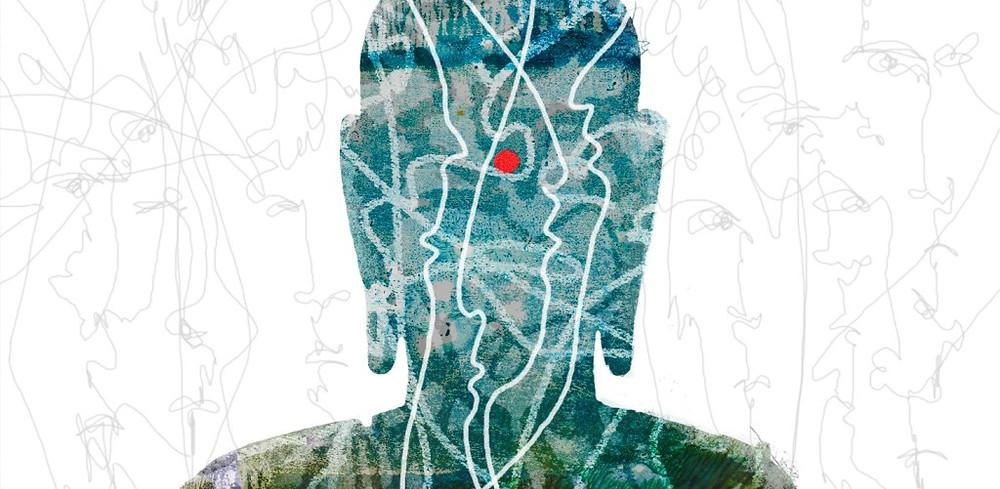 Иллюстрация Анастасии Петровой, выполненная для статьи Евгения Торчинова, опубликованной в журнале «Эрос и Космос»