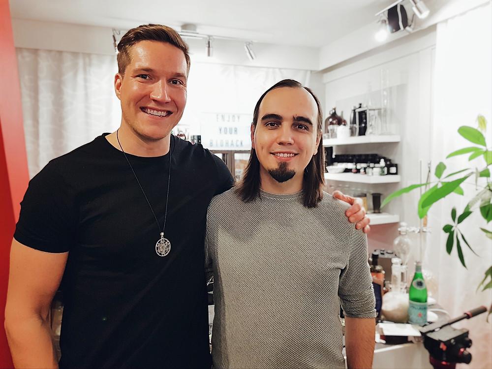 Олли Совиярви и Евгений Пустошкин в Центре биохакеров (Хельсинки) в декабре 2019. Автор фото: Татьяна Парфёнова