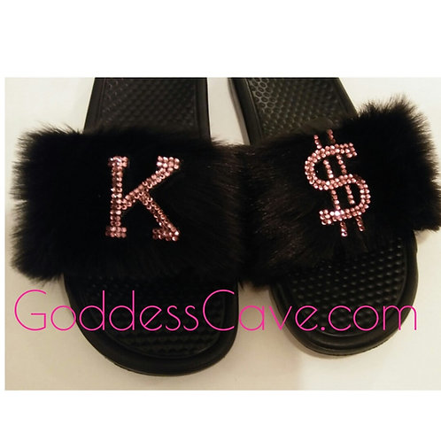 Personalized Fur Nike Slides