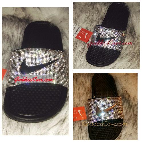 Sparkle Nikes with Metal Logo