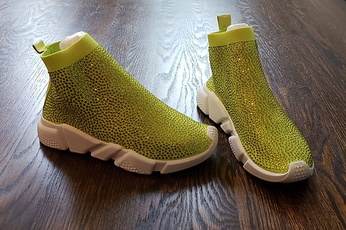 Lime Crystal Trainers