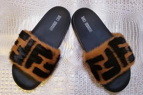 Mink Fur Slides - FF