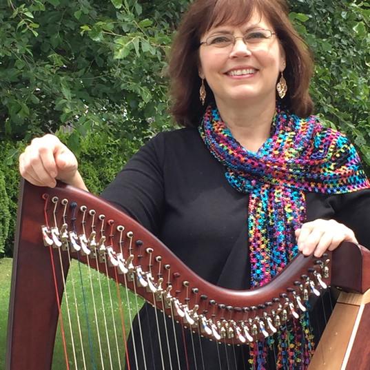 Kathy King, harpist, PT, CMP, Reiki Mast