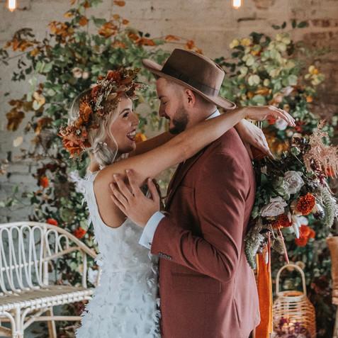 Autumnal Wedding Floral Arch
