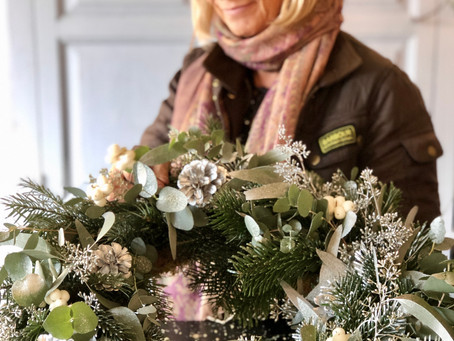 Christmas Wreaths at Lydie Dalton Floral Design, florist in Brighton and Hove, Sussex