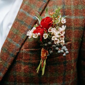 Wedding groom's buttonhole