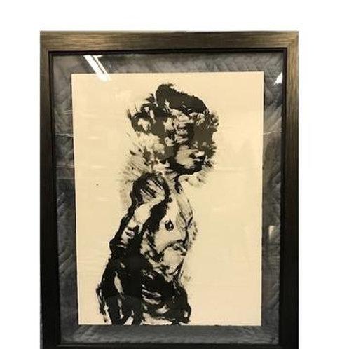 B&W Figure Framed Art