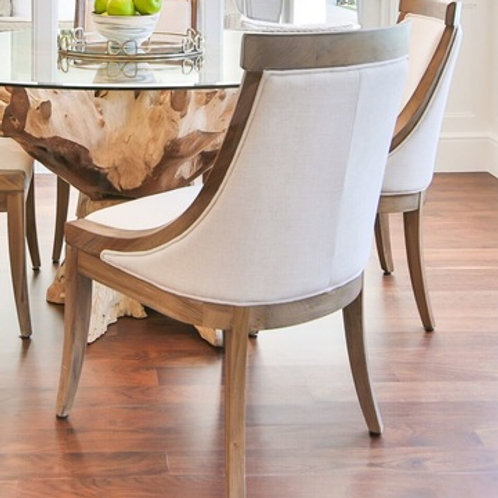 White & Wood Dining Chairs S/4