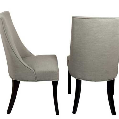 GRAY SLOPE ARM W/ BLACK DINING CHAIR