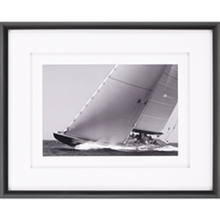 BLACK & WHITE SAILBOAT FRAMED ART