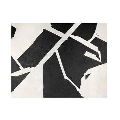 Black and White Geo Canvas Set of 2