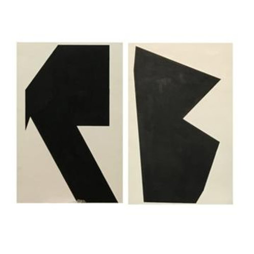Black and White Canvas Art Set
