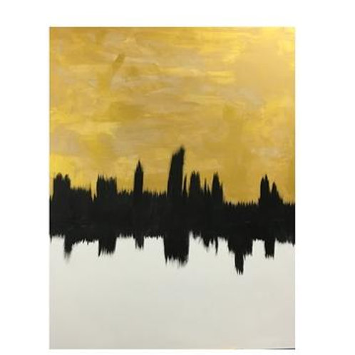 Gold and White Skyline
