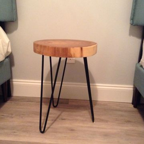 WOOD W/ BLACK HAIRPIN LEGS TABLE