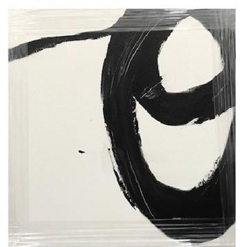 B&W Circles Canvas Art
