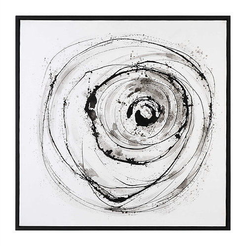 BLACK & WHITE ABSTRACT CANVAS ART