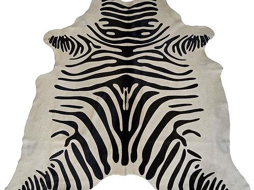 'WILD FOR YOU' ZEBRA PRINT COWHIDE RUG