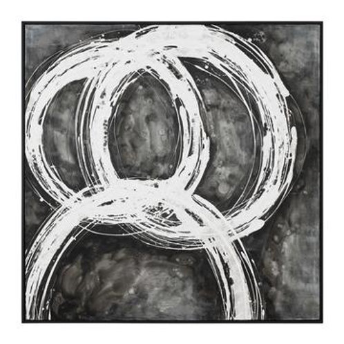 B&W Abstract Canvas Art