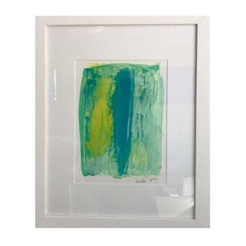 TEAL & BLUE FRAMED ART
