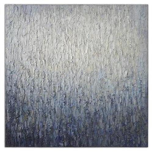 Blue and Cream Textured Canvas Art