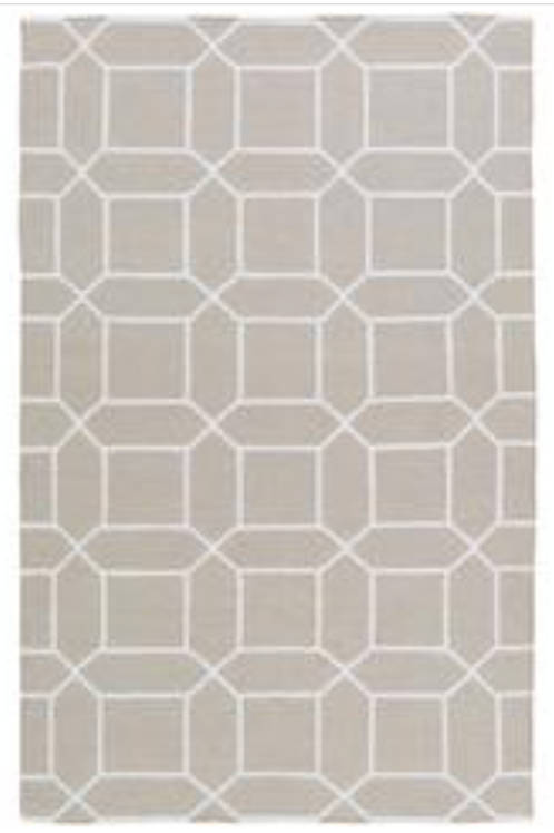 OUTDOOR BEIGE PATTERN RUG