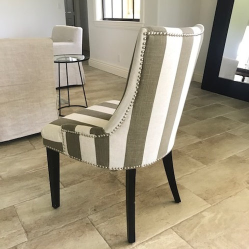 BEIGE & WHITE STRIPED CHAIR