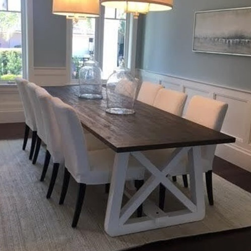 WOOD W/ WHITE DINING TABLE