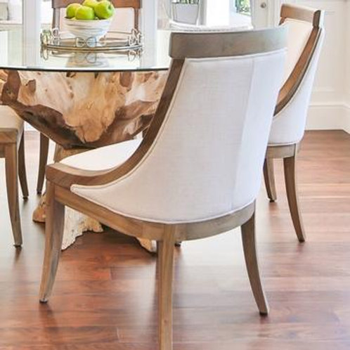 White and Wood Dining Chairs Set of 2