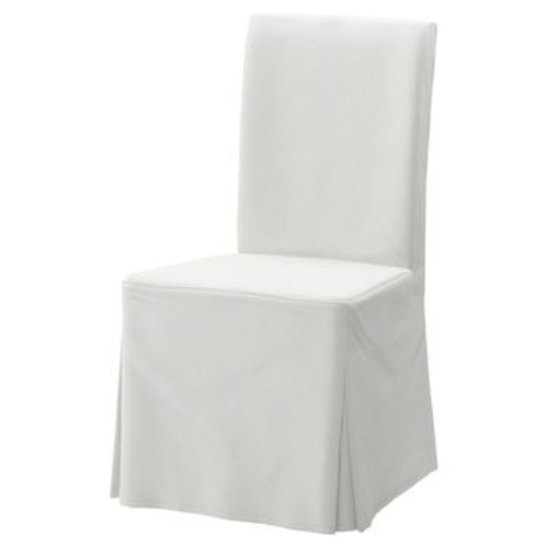 WHITE SLIPCOVER DINING CHAIR