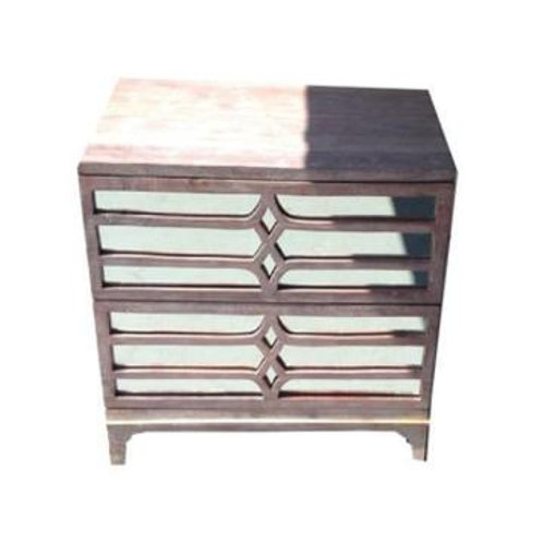 Wood w/ Mirror Accent Tables Set