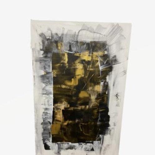 Black White & Yellow Wall Art