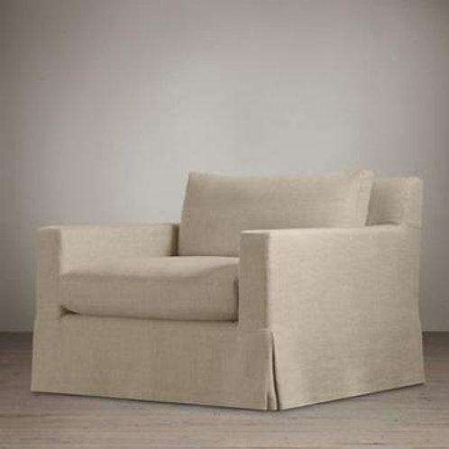 Beige RH Slipcover Armchair Set of 2