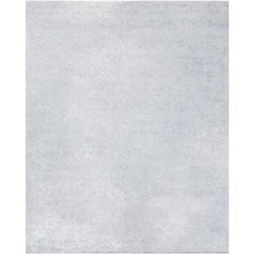 Blue Gray 8' x 10' Zig Zag Pattern Rug