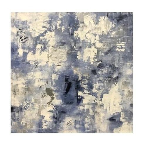 Blue & White Canvas Art 40X40