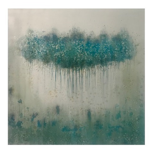 TEAL ABSTRACT CANVAS ART