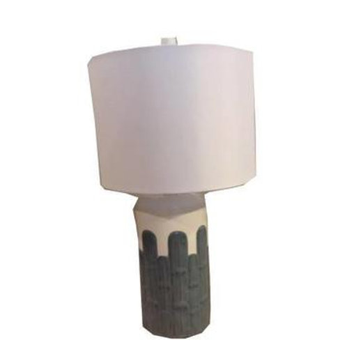 Blue Cacti Table Lamp Set