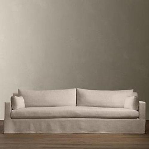 Beige RH 8' Slipcover Sofa