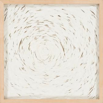 BEIGE SWIRL ABSTRACT CANVAS ART