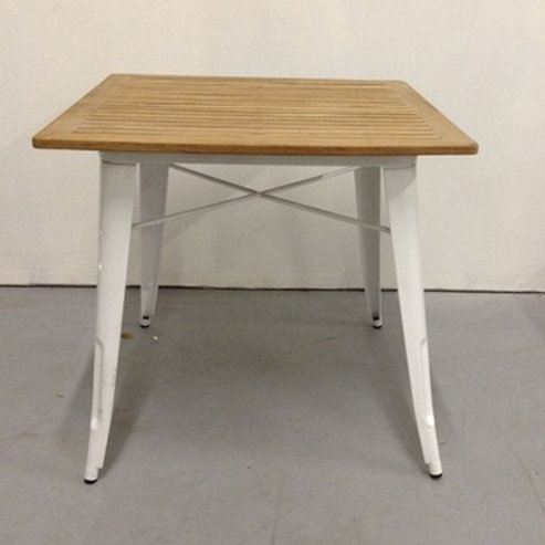 WOOD TOP OUTDOOR CARD TABLE