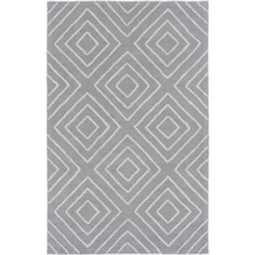 Gray Diamond Pattern 8x11 Rug