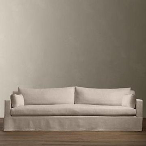 Beige RH 9' Slipcover Sofa