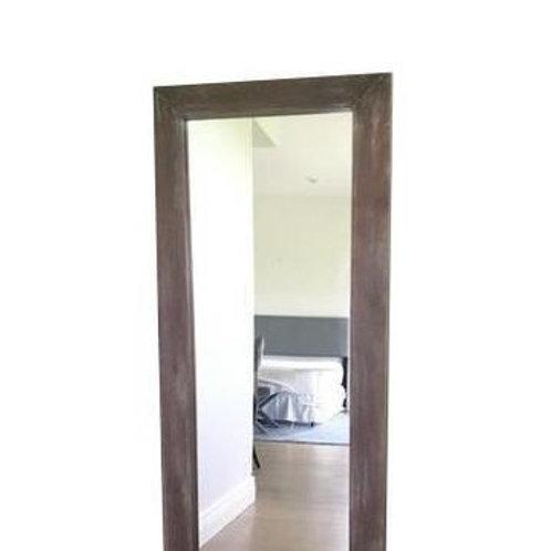 Wood w/ Whitewash Floor Mirror