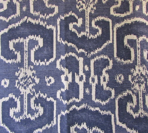 Bengali Indian Blue Fabric by Lacefield
