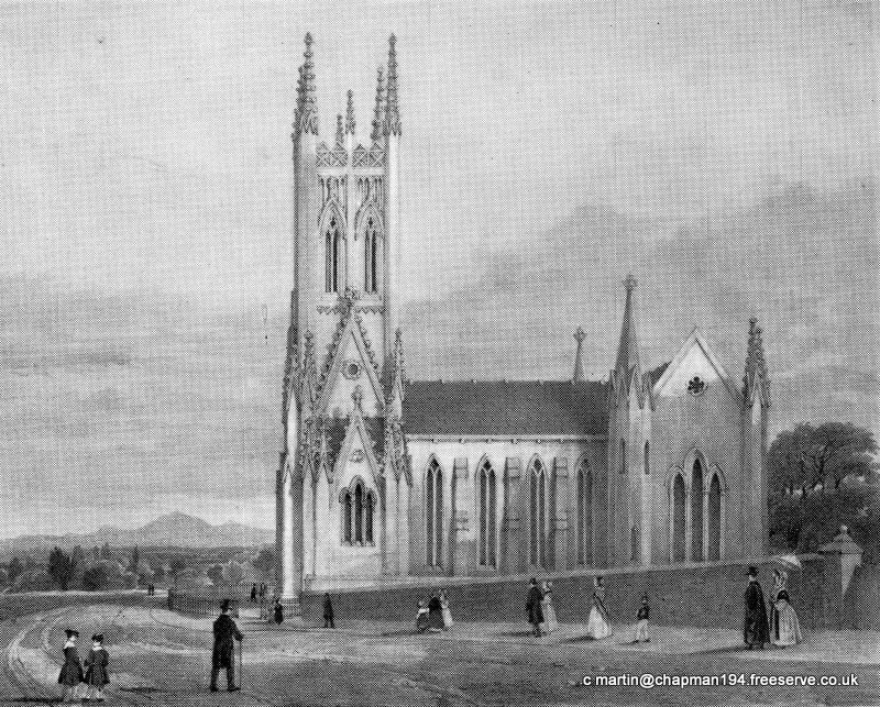 1840c Church Etching c1840