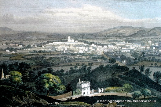 1840c Cheltenham from Leckhampton Hill